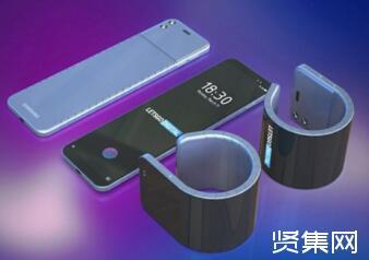 三星柔性外翻屏智能手机专利曝光:手机能够卷曲成腕表使用