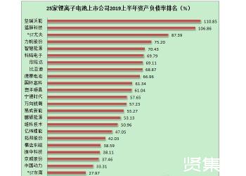 25家锂离子电池上市公司半年业绩分析
