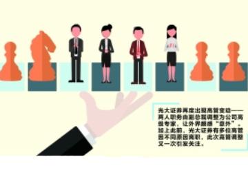 光大证券最新人事变动:两位副总裁改聘为高级专家