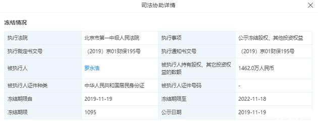 成都锤子科技股权再遭冻结,冻结金额达1462万人民币