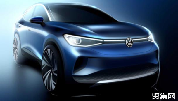 大众首款纯电动SUV ID.4官方预告图发布,续航里程达500km