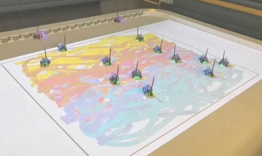 《【天富平台佣金】机器人群遵循指令可以制作多姿多彩的油画作品》