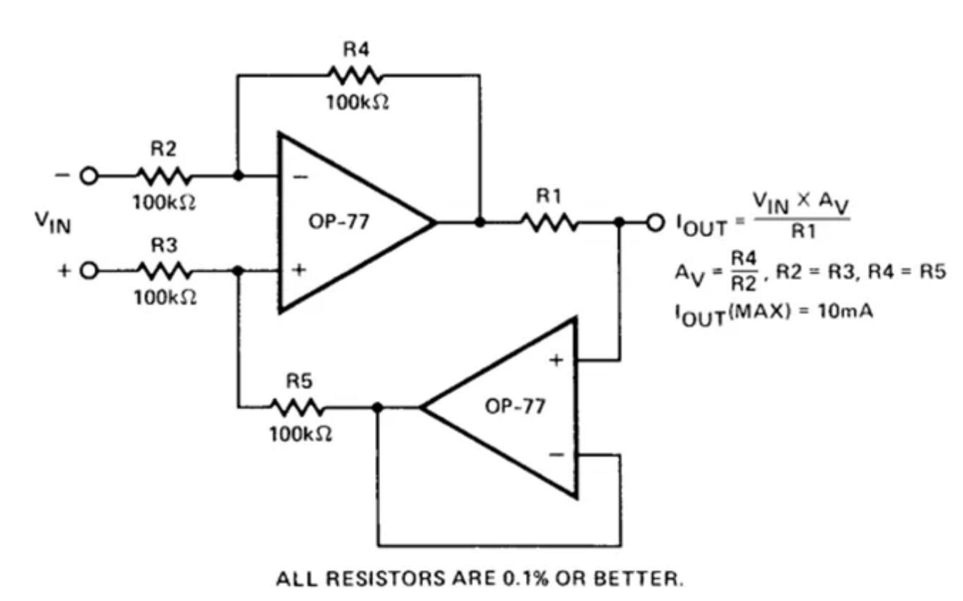如何设计具有运算放大器的精密电流泵