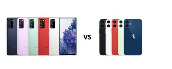 三星Galaxy S20 FE vs苹果12,专业测评谁更值得入手