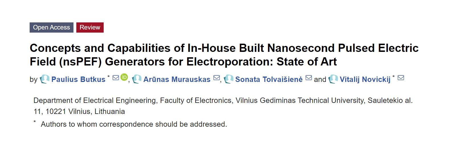 新型纳秒脉冲电场发生器,可广泛用于生物医学和生物技术领域!