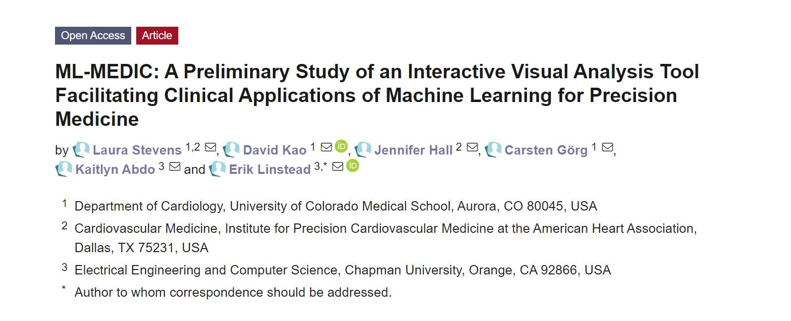 新研发的ML-MEDIC工具,可应用于医学探索和临床实验!