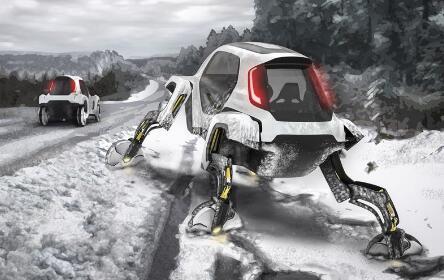 可以四肢行走的机器人汽车了解下 未来也许会成为现实