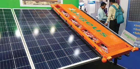 一种无需用水的太阳能机器人可用于清洁卫生