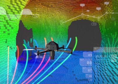 折叠无人机深入人类禁区 进入雷区内部进行排雷