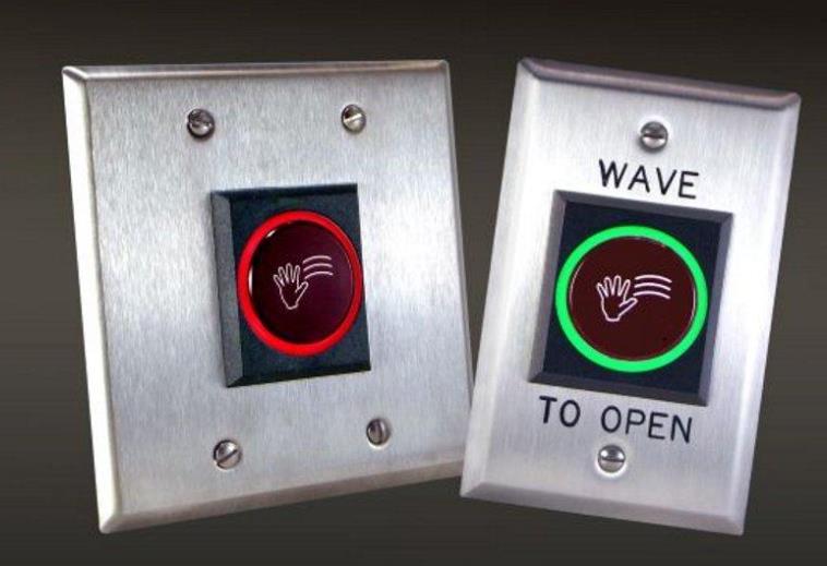 Dortronics推出两款非接触式门解决方案,只需简单地挥动手掌即可激活开关
