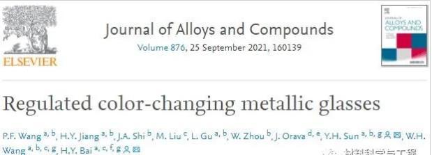 二號站登錄測速中科院發現一種可以在自然條件下自發改變顏色的金屬材料