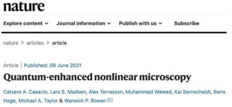 科学家创造了一种量子显微镜,可以揭示原本无法看到的生物结构