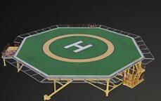 二號站登錄測速直升機起落存在墜落物的安全隱患!Dropsafe推出了一個新的停機坪安全網系統