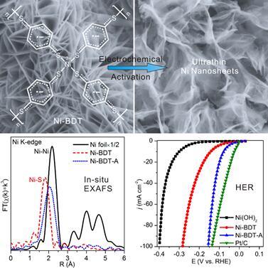 厦大揭示有关镍-硫醇配位聚合物析氢电催化材料的活性中心