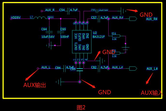 断开PCB板上2mm的GND连接,破坏了环路,也解决了BUG