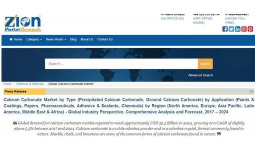 2024年,全球碳酸钙市场规模将达到323亿美元!