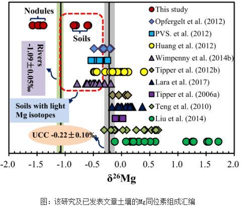 铁氧化物和低镁黏土矿物可富集轻Mg同位素