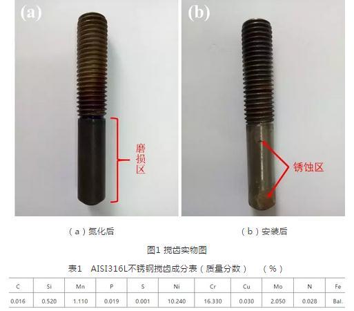 AISI 316L不锈钢搅齿氧化生锈的原因和解决措施