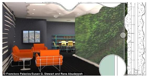 """能遇有害气体变色预警的""""植物墙"""""""
