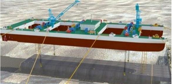 世界上首艘自航式沉管运输安装专用船舶:运输一体船H3088
