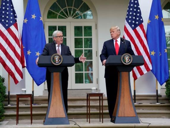 """与美国""""贸易停战"""" 欧盟强调:不谈农业"""