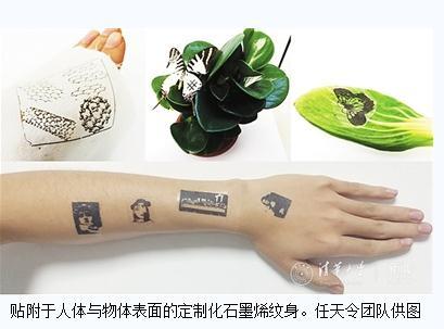 任天令团队:全球首次实现了可定制的石墨烯电子纹身
