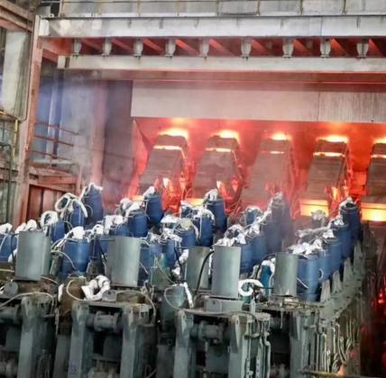 山东巨能特钢2号连铸机改造工程成功热试