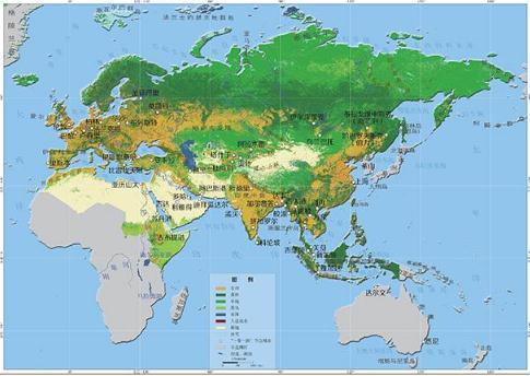 卫星数据绘制成全球土地覆盖的变化图