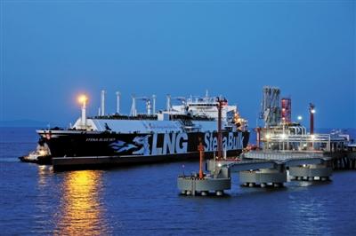 首个民营大型LNG接收站迎来首艘船舶