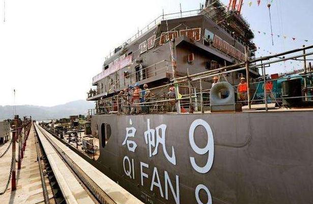 国内首制新型海底电缆施工船启帆9号正式交付