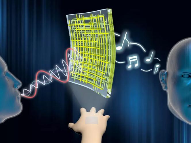 由纳米线制成的柔性扬声器可附着在皮肤上并播放音乐