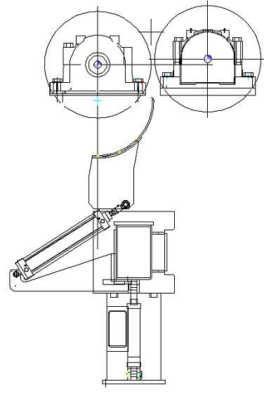 复卷机刀切式断纸机构改进