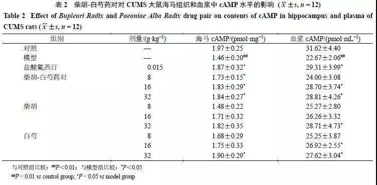 基于cAMP-CREB-BDNF通路探讨柴胡-白芍药对抗抑郁作用机制