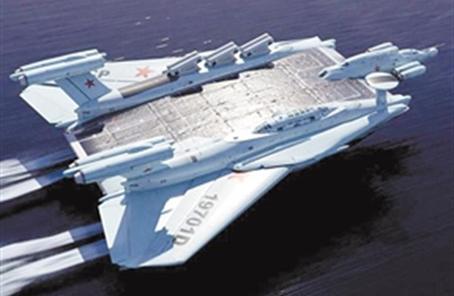 """俄罗斯""""奥兰""""级地效飞行器,贴着水面飞行!"""