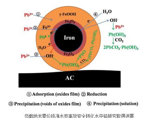 负载纳米零价铁净水炭高效安全转化水中铅研究取得进展