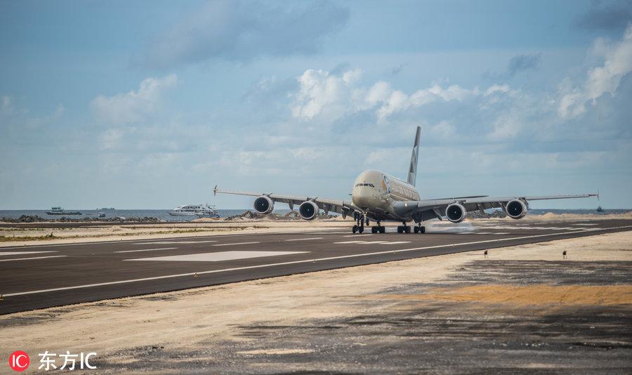 北京城建集团承建的马尔代夫维拉纳国际机场新跑道全面完工