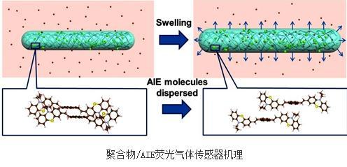 聚合物/AIE荧光气体传感器的构建