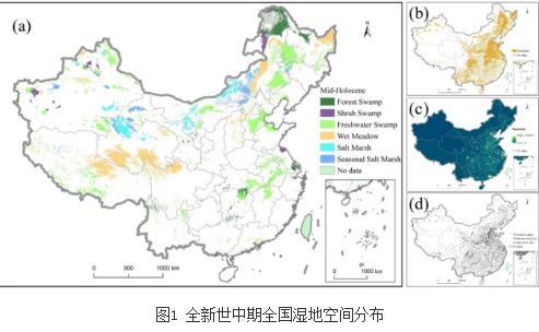 全国自然湿地类型分布样点数据与格局