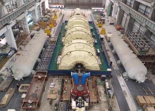 田湾4号机组汽轮机核蒸汽冲转一次成功!