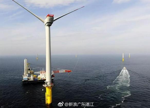 湛江外罗海上风电项目国庆期间开展单桩施工