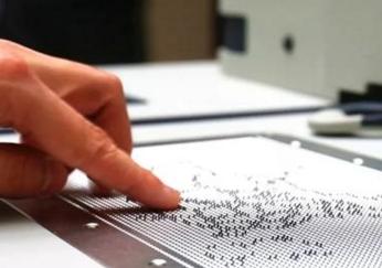 """百度联合清华专为盲人研发出一款能触摸的""""图片"""""""