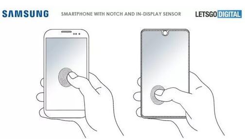 三星新专利:屏幕内置生物识别传感器,全屏幕都能感应解锁