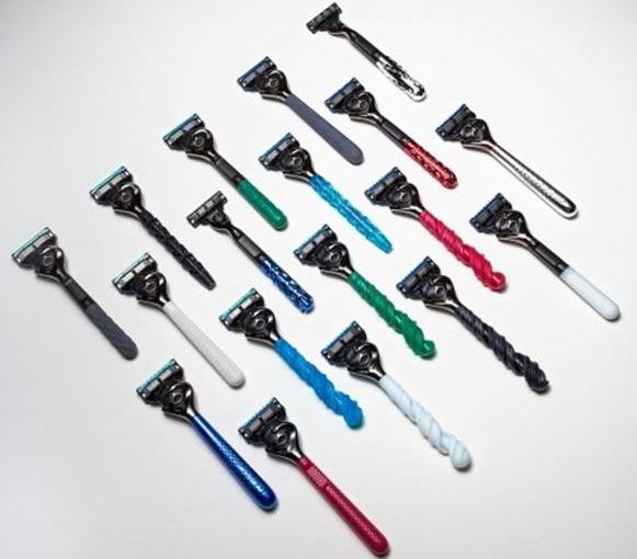 吉列推出3D打印定制化剃须刀手柄