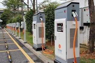 星星充电与中石化合作共建的南京湖西街电动汽车充电站正式开业