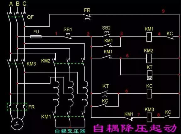 自耦变压器降压启动工作原理、特点、优缺点与电路设计要点