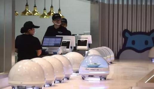 阿里巴巴旗下盒马鲜生2.0版机器人餐厅亮相世博会