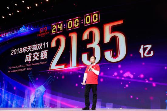 天猫双11交易额2135亿,张勇演讲全文:90后消费者占比46%