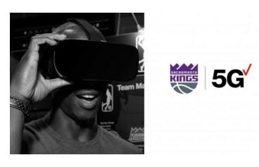NBA萨克拉门托国王队首个使用VR+5G直播技术