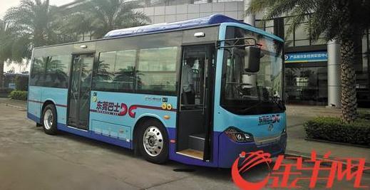 东莞全新换代的纯电动公交车配备智能安全配套