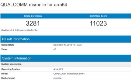 高通骁龙 8150最新跑分显示:单核3281分,多核11023分